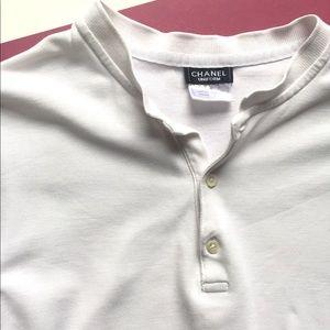 Chanel boutique uniform polo white shirt